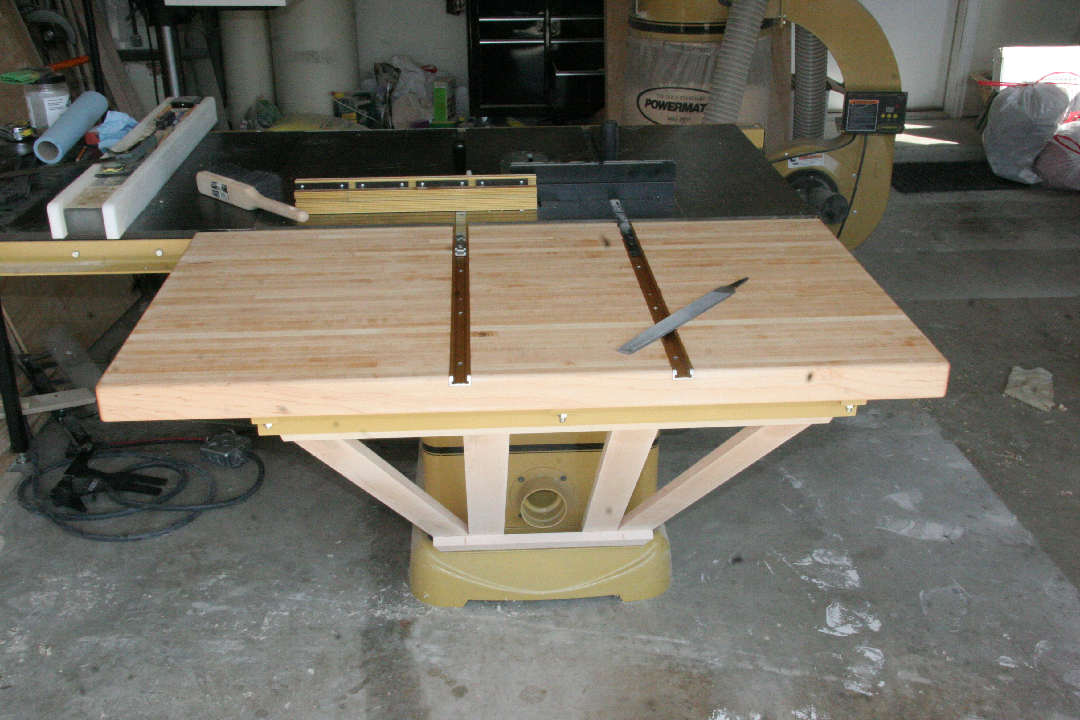 Custom Table Saw Outfeed Table Pocket Holes 39 N Biscuits
