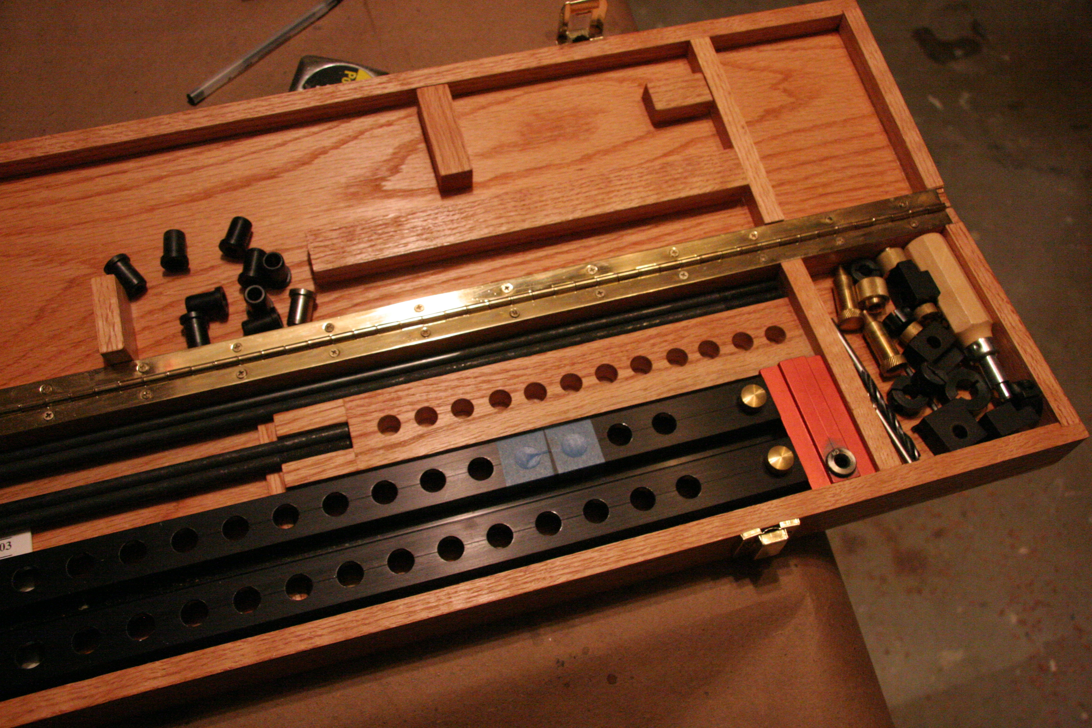 Wood Box for Veritas Shelf Pin Drilling Jig | Pocket Holes 'n Biscuits